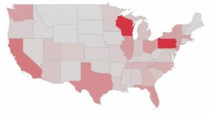 Map of direct employment by state. View the full report here.